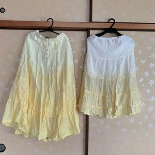 親子コーデ♡グラデーションマキシスカートセット♡ママMキッズ130(ロングスカート)