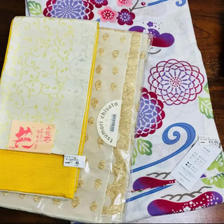 ツモリチサト(TSUMORI CHISATO)の新品未使用 タグ付き 浴衣と帯2つの3点セット(浴衣)