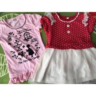 ニシマツヤ(西松屋)のTシャツとチュールワンピースセット(ワンピース)