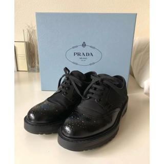 プラダ(PRADA)のPRADA leather×nylon shoes size23.0cm(ローファー/革靴)