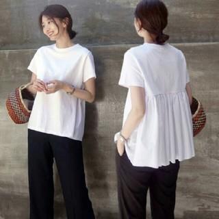 ZARA - ~新品 バックフリル 切り替え トップス ~