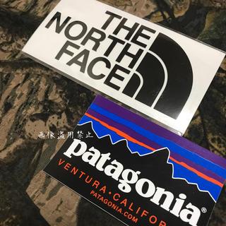 ザノースフェイス(THE NORTH FACE)の新品未使用 ノースフェイス&パタゴニア カッティングステッカー黒&フィッツロイ (その他)