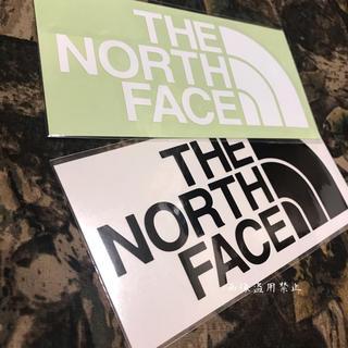 ザノースフェイス(THE NORTH FACE)の新品未使用 ノースフェイス カッティングステッカー 白黒(その他)