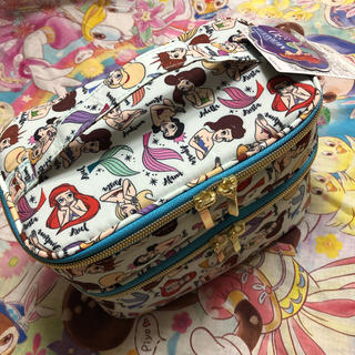 Disney - 総柄 リトルマーメイド アリエル 姉妹 化粧ポーチ 二段 バニティ インスタ
