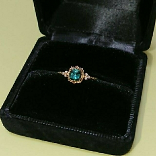 H.P.FRANCE - time jewelry グリーントルマリン リング K14 YG  #12