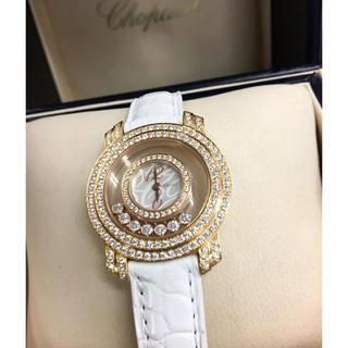 ショパール(Chopard)の数回¥405万品★ショパール★K18PG 最高級ハッピーダイヤモンド 箱/保 (腕時計)