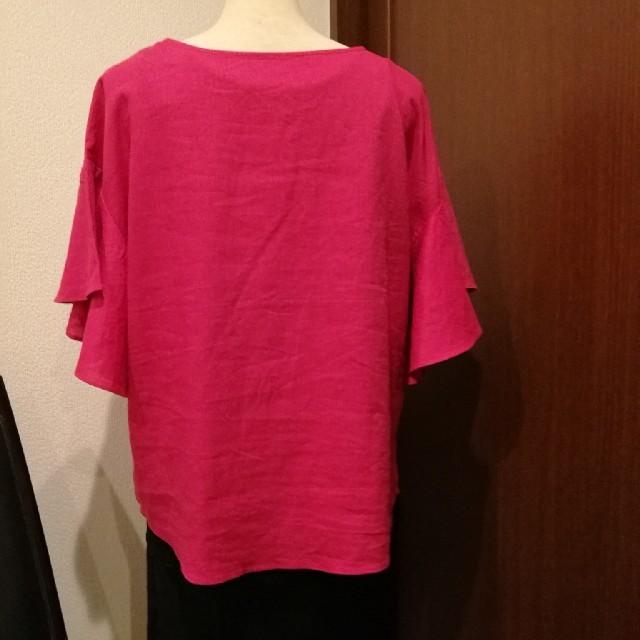 GU(ジーユー)のお値下!guリネンブレンドフレアスリーブブラウス レディースのトップス(シャツ/ブラウス(半袖/袖なし))の商品写真