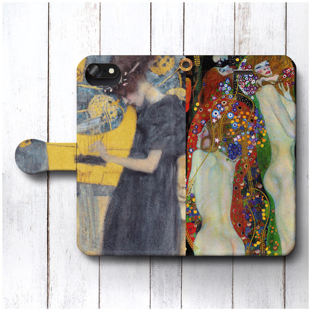 iphone 8 plus ケース カード | スマホケース手帳型 全機種対応型 グスタフクリムト レトロの通販 by NatureMate's shop|ラクマ