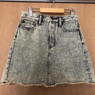 ジーユー(GU)のGUデニムミニスカートSサイズ 未使用(ミニスカート)