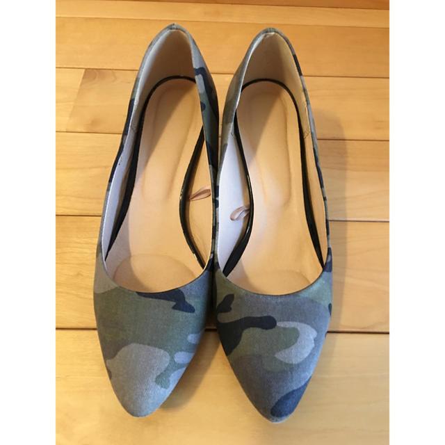 GU(ジーユー)のGU ☆ 迷彩柄  M  ポインテッドトウ レディースの靴/シューズ(ハイヒール/パンプス)の商品写真