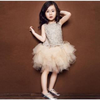 29c3e825be3d5a ワンピース 女の子 子供 キッズ チュールドレス レース 花柄 ビジュー(ドレス/フォーマル)