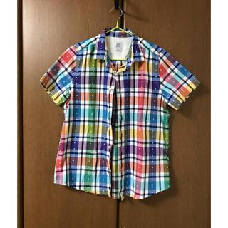 グラニフ(Design Tshirts Store graniph)のカラフルチェックのシャツ(シャツ/ブラウス(半袖/袖なし))