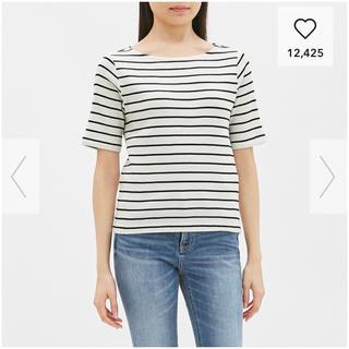 ジーユー(GU)のGU ボーダーワッフルTシャツ(Tシャツ(半袖/袖なし))