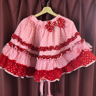 Angelic Pretty - Angelic Pretty ポップドットスカート 赤xピンク