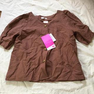 シマムラ(しまむら)のしまむら 2PINK 綿麻ブラウス Lサイズ(シャツ/ブラウス(半袖/袖なし))