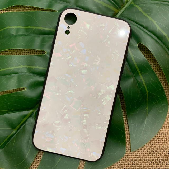 iPhoneXR ケース シェル パール ホワイト キラキラ 韓国 可愛い 人気の通販 by select shop.seala|ラクマ