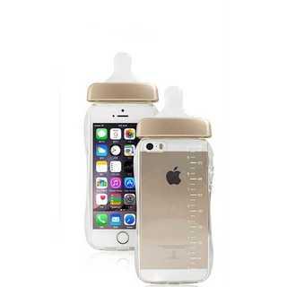 スマホケース ゴールド iPhone 6/6S 哺乳瓶 ミルク TPU かわいい