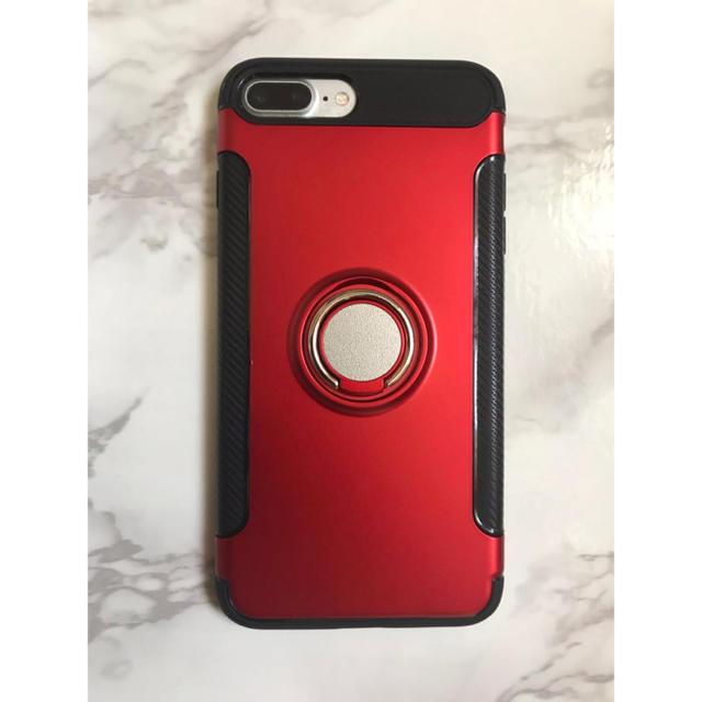 新品!iPhone7Plus/iPhone8Plusリング付き耐衝撃ケースの通販 by yukino'shop|ラクマ
