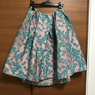 チェスティ(Chesty)のmeronchanさま専用 ミスアドラchestyフラワー刺繍ジャガードスカート(ひざ丈スカート)