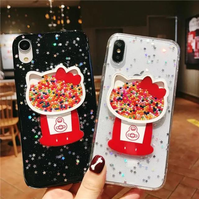 エレコム ハイブリッド ケース iphone8 - スマホケース iPhone XR/  X/XS  インスタ風  可愛い おしゃれの通販 by cake's shop|ラクマ
