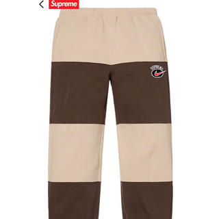 Supreme - Supreme/Nike Stripe Sweatpant S 19ss tan