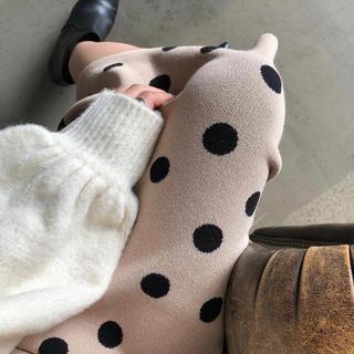rienda -  rienda Dot JQ knit J/WタイトSK