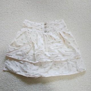 ジーユー(GU)のGU 2段フリルスカート 120㎝(スカート)