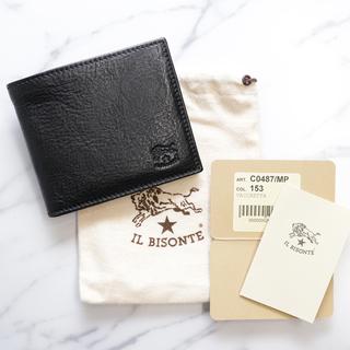 0a9fd9419af1 イルビゾンテ(IL BISONTE)の新品 正規品 イルビゾンテ 二つ折り 財布 ブラック 黒 ブランド