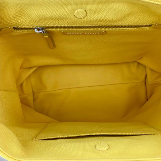 miumiu(ミュウミュウ)のmiumiu ミュウミュウ 18ss キャンバス ショルダートートバッグ 黄色 レディースのバッグ(トートバッグ)の商品写真