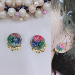【459】かすみ草ピアス☆