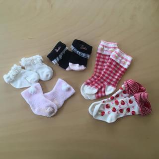 バービー(Barbie)の新生児 7〜9センチ 靴下セット(靴下/タイツ)