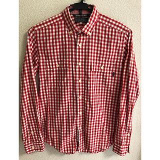 デラックス(DELUXE)のDELUXE  CLOTHING  デラックス 赤白 チェックシャツ 日本製(シャツ)