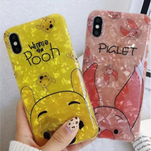 iphoneケース 個性的 、 【ぷーさんピグレット】iPhoneケースの通販 by キラさん|ラクマ
