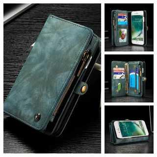 青★iPhone 6s/7/8/Plus スエード レザーケース 財布★