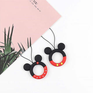 Disney - ディズニー ミッキー リング ストラップ スマホ 落下防止
