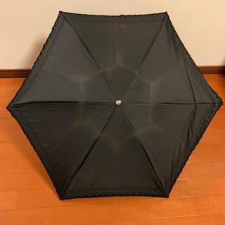 セリーヌ(celine)のセリーヌ 折りたたみ 日傘 花柄 ブラック(傘)