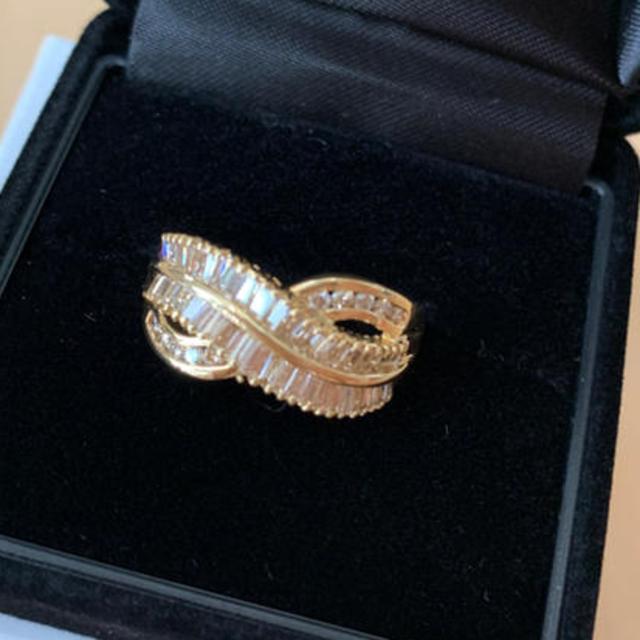 【mixiサマ専用】1ct SI相当 テリ良 ダイヤ ウェブk18 リング鑑別付 レディースのアクセサリー(リング(指輪))の商品写真