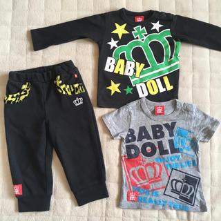 ベビードール(BABYDOLL)の80㎝90㎝ BABY DOLL 半袖長袖長ズボン3点(Tシャツ)