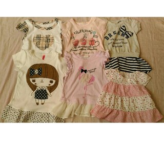 f1a59739c5976 ニシマツヤ(西松屋)の女の子 Tシャツ 6枚セット 70 まとめ売り(T