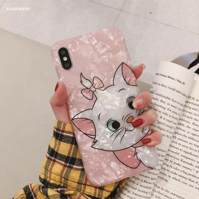 iphone8 縦 開き ケース | Disney - ディズニー マリーちゃん iPhone XR 用 ケース  ピンク の通販 by love2pinky's shop|ディズニーならラクマ