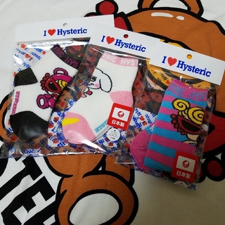 HYSTERIC MINI - ヒスミニ 新品♡11~12㎝ 靴下3点セット
