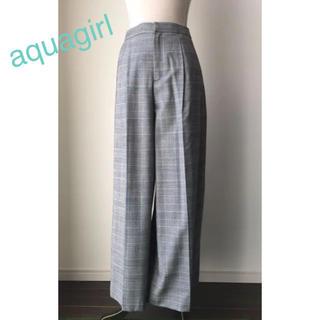 アクアガール(aquagirl)のアクアガール グレンチェックワイドパンツ(カジュアルパンツ)