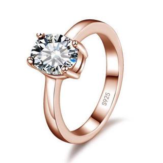 AAAランク ダイヤモンドcz 18号 リング 指輪 ピンクゴールド(リング(指輪))