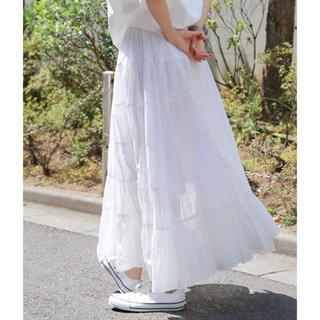 バビロン(BABYLONE)のBABYLONE バビロン コットンマキシスカート 新品未使用(ロングスカート)