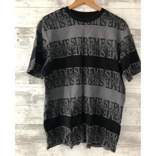 Supreme - 19ss Supreme Text Stripe Jacquard Tシャツ