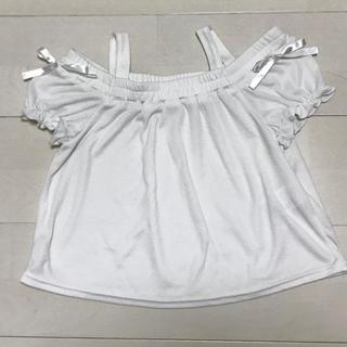 シマムラ(しまむら)のオフショルダー ホワイト 120cm(Tシャツ/カットソー)