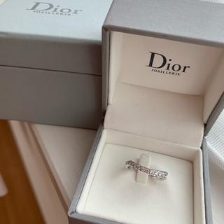 クリスチャンディオール(Christian Dior)のハーフエタニティ ダイヤモンドリング k18 (リング(指輪))