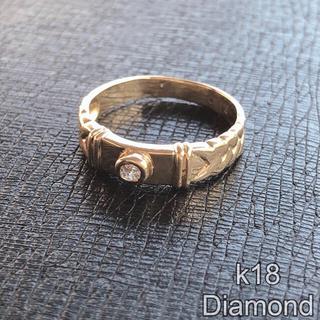 k18 ダイヤモンド リング 18金 ダイヤ 指輪 18k メンズ レディース