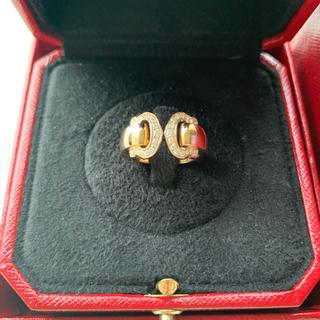 カルティエ(Cartier)のカルティエ☆Cドゥカルティエ☆ダイヤモンドリング☆ピンクゴールド☆極美品☆(リング(指輪))