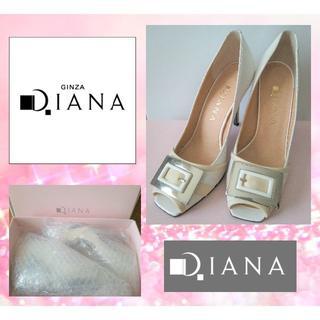 ダイアナ(DIANA)の新品未使用 Diana  ダイアナ オープントゥ パンプス 22cm(ハイヒール/パンプス)